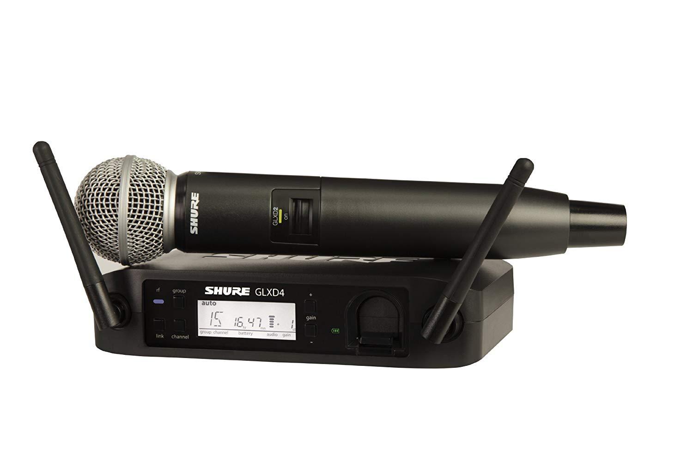 מיקרופון אלחוטי sm58 דגם: Shure GLXD24/SM58