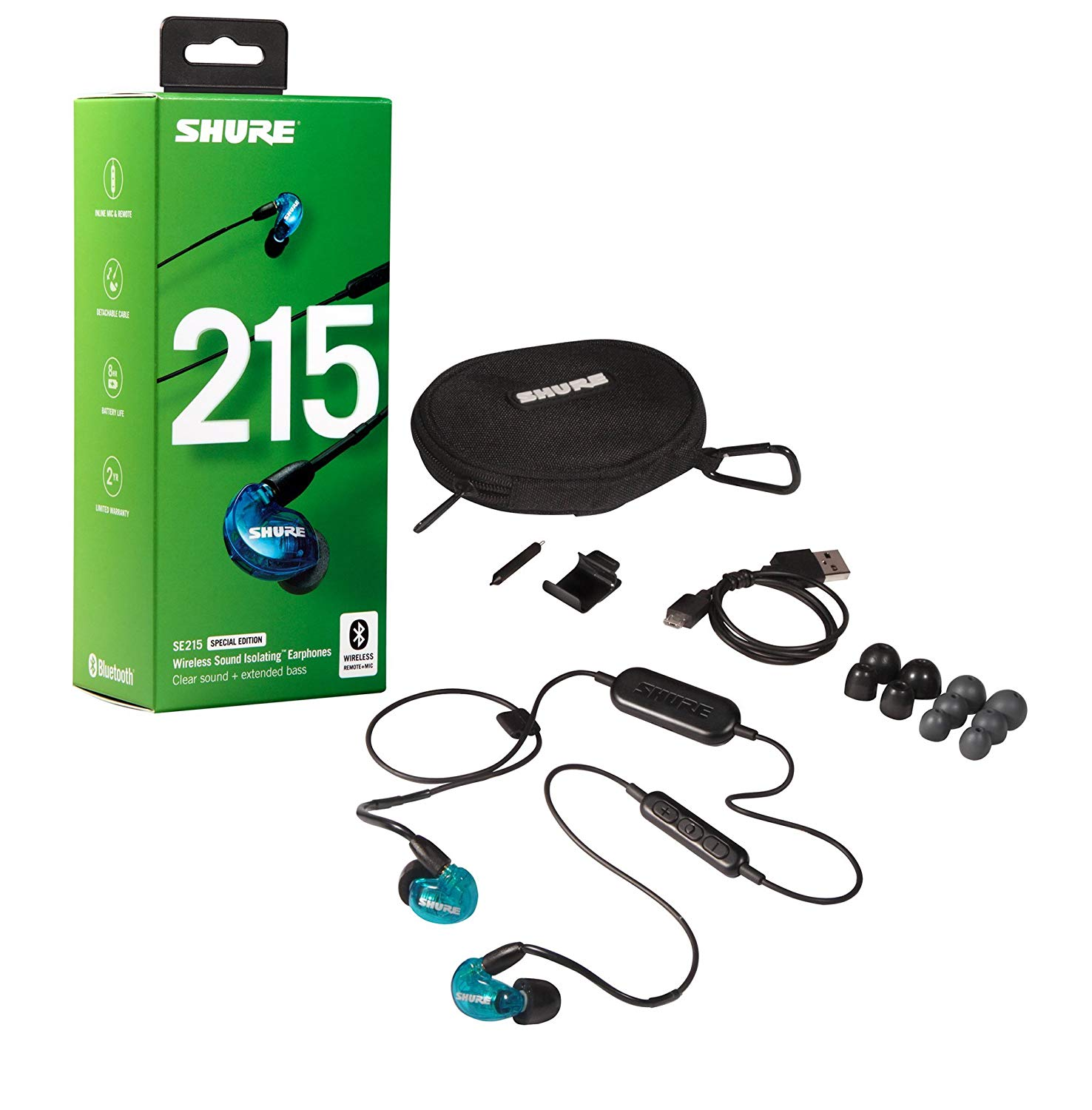 Shure Se215 Special Edition BT1 Blue